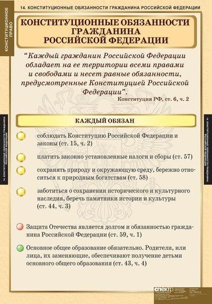 Права гражданина рф по конституции схема